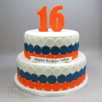 Polka Dot Bands with Number Topper (two tier)