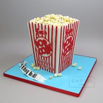 Popcorn Box (shaped cake)