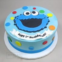 Cookie Monster (flat fondant)