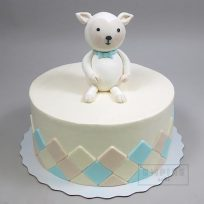 Lamb Topper with Argyle Decoration