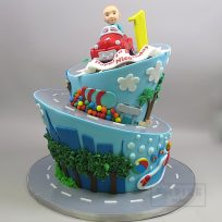 Baby Driver (Topsy Turvy Car Cake)