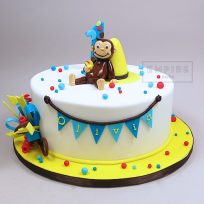 Curious George with Hat (single tier)