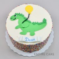 Dinosaur with Balloon (flat fondant)