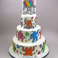 Keith Haring Pride Day Cake