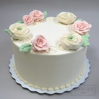 Scattered Buttercream Roses