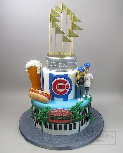 Superb Stadium Cake Chicago Cubs Empire Cake Personalised Birthday Cards Sponlily Jamesorg