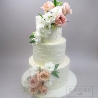 Textured Buttercream and Dusty Roses