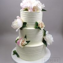 Textured Buttercream with Scattered Peonies