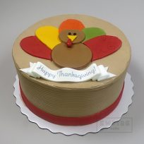 Thanksgiving Turkey (flat fondant)