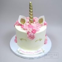Unicorn with Buttercream Mane and Gold Fondant Details