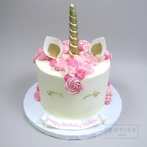 Gold And Pink Birthday Cake Two Tier