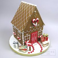 "Fondant ""Gingerbread"" House"