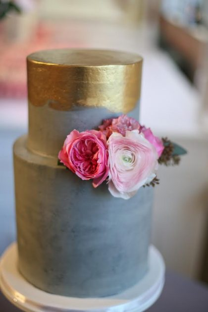modern wedding cakes pinterest concrete effect buttercream and brushed gold empire cake 17486