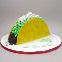 Giant Taco-Shaped Cake