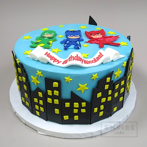 Pj Masks With Cityscape Empire Cake