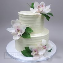 Fresh Orchids & Textured Buttercream