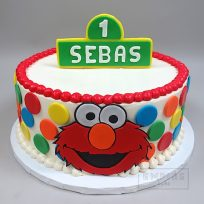 Elmo with Sesame Street Sign Topper