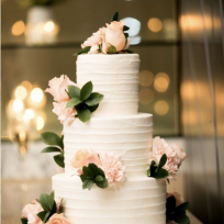 Textured Buttercream & Peach Roses