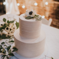 Textured Buttercream with White Anemones