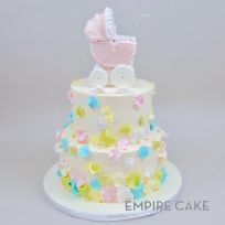 Baby Carriage and Petals (two tier)