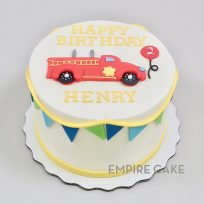 Fire Engine (flat fondant)