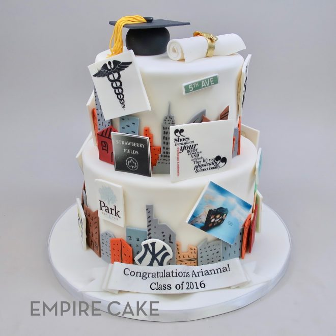 Fabulous New York City Graduate Empire Cake Birthday Cards Printable Riciscafe Filternl