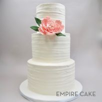 Textured Buttercream with Pink Sugar Peony