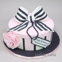Striped Bow and Box