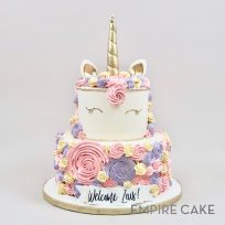 Two-Tier Unicorn with Buttercream Rosettes