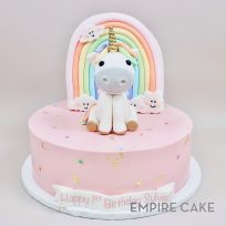Unicorn, Rainbow and Happy Clouds