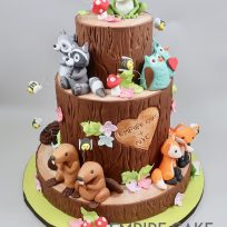 Woodland Creatures on Forest Stumps