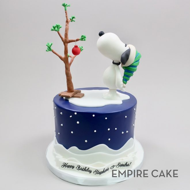 Magnificent Snoopy Christmas Birthday Empire Cake Funny Birthday Cards Online Alyptdamsfinfo