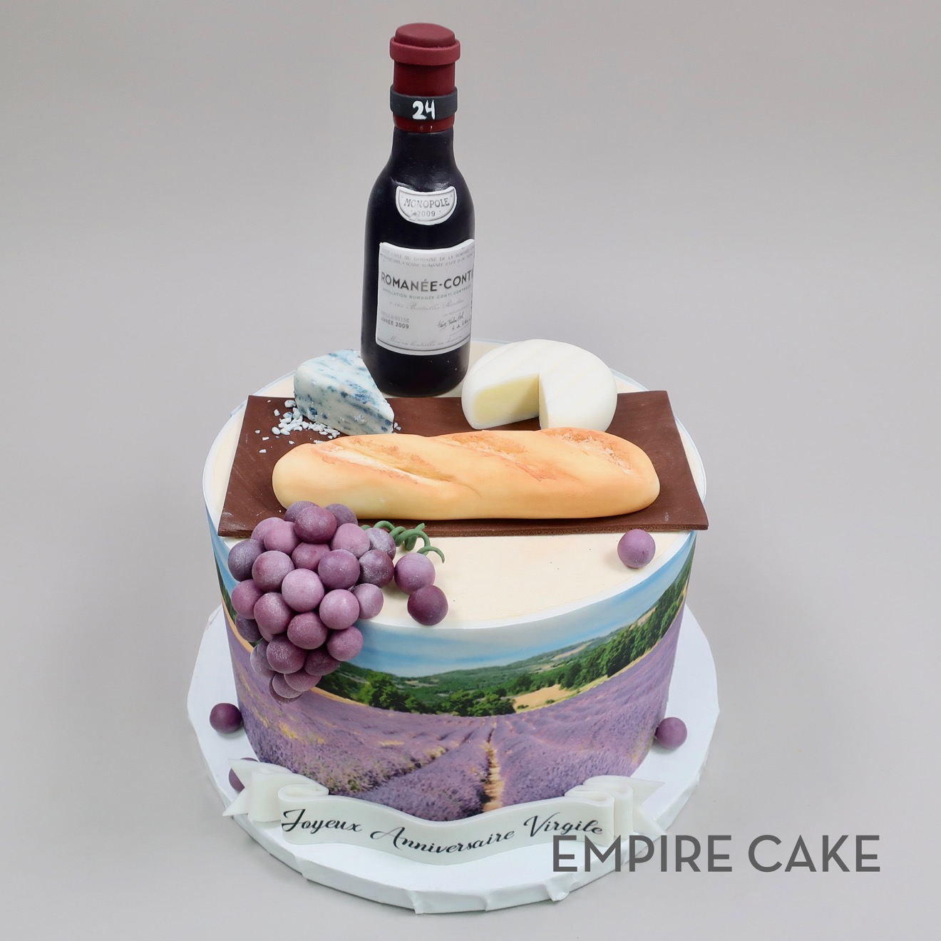Super French Birthday In Provence Empire Cake Funny Birthday Cards Online Overcheapnameinfo