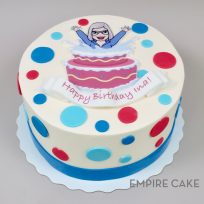Edible Print Cut-Out with Polka Dots