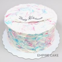 Textured Buttercream Gender Reveal