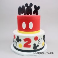 Mickey Mouse with Name Topper (two tier)