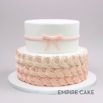 Ombre Blush Rosettes & Bow