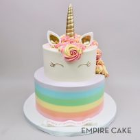 Unicorn with Buttercream Rainbow (two tier)