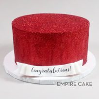 Red Buttercream Glitter