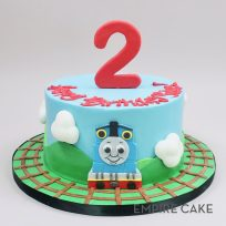 Thomas the Tank Engine with Number Topper (single tier)