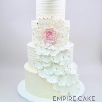 Cascading Rose on Buttercream (four tier)