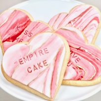 Fondant Conversation Heart Cookies