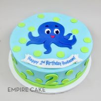 Happy Octopus (flat fondant)