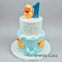 Rubber Ducky (3D topper on 2-tier)