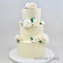Textured Buttercream with Sugar Roses