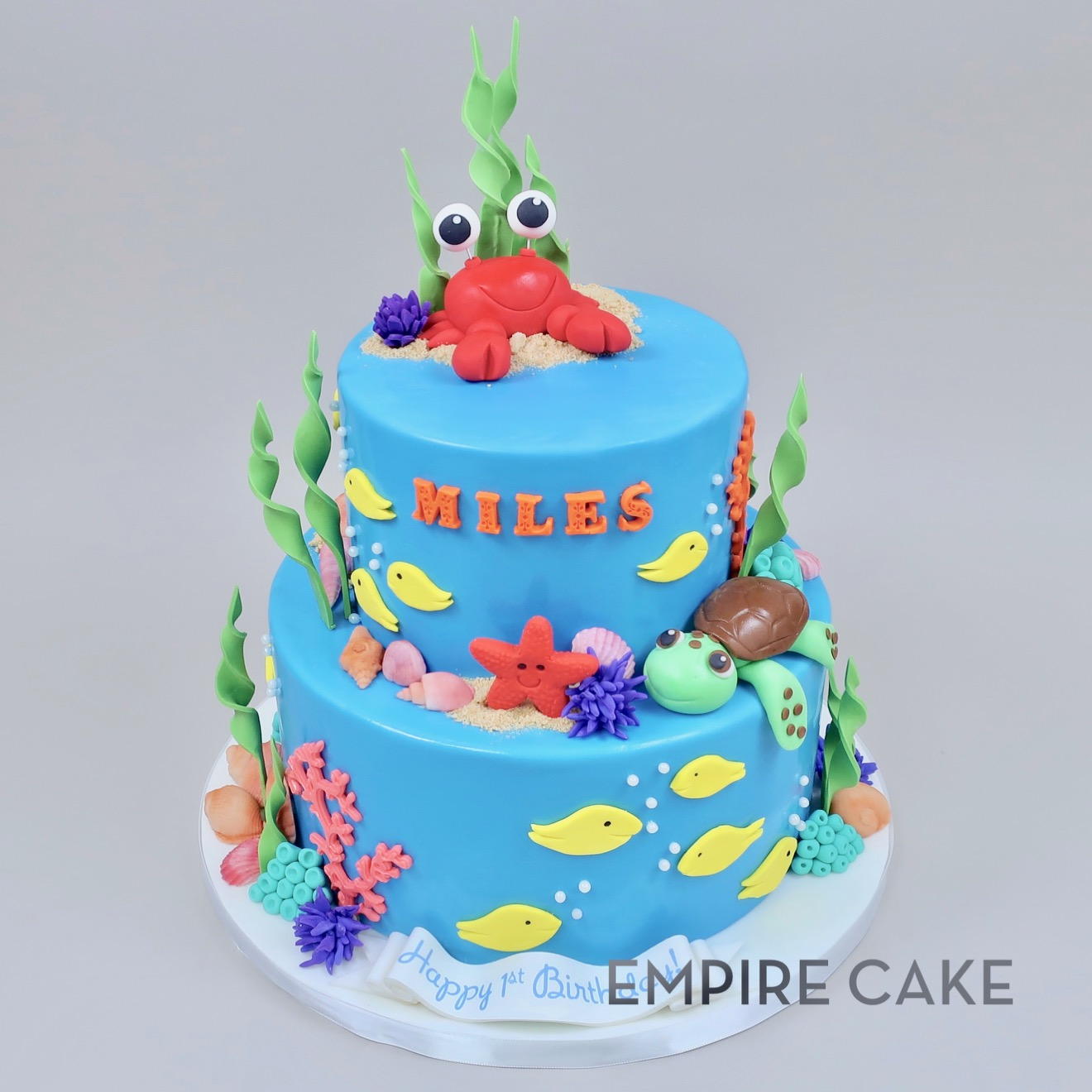 Tremendous Under The Sea With Crab And Turtle Empire Cake Funny Birthday Cards Online Necthendildamsfinfo