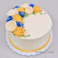 Buttercream Flowers – Yellows & Blue