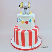 Elephant, Bunting and Stripes (two tier)