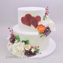 Fondant Hearts and Sugar Flowers