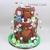 Forest Stump Birthday (two tier)